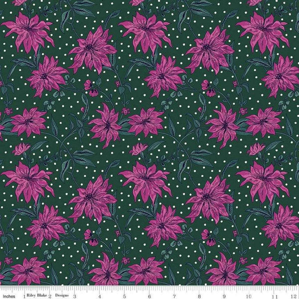 Poinsettia in Pink / Green