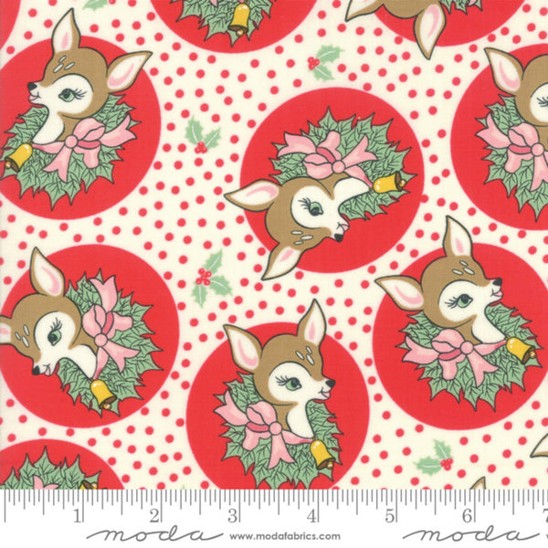 Polka Dot Deer in Peppermint - Last Fat Quarter