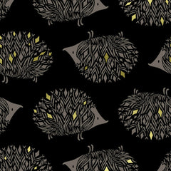 Prickles CANVAS in Black Metallic