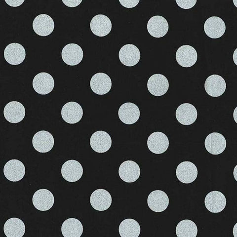 Quarter Dot Pearlized in Zirconium Black / Silver - Last Fat Quarter