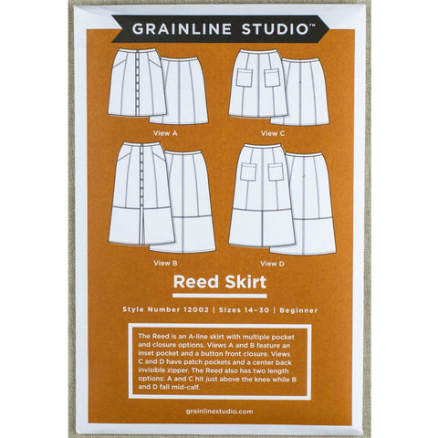 Grainline Studio Reed Skirt Pattern Extended Sizes 14 - 30 (printed paper)
