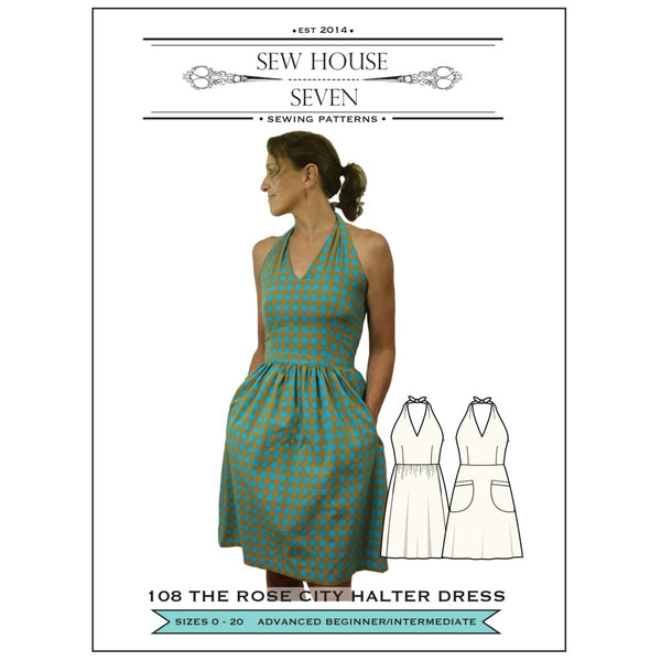 Sew House Seven - The Rose City Halter Dress Pattern (paper)