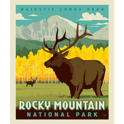 National Parks Rocky Mountain Poster PANEL in Autumn