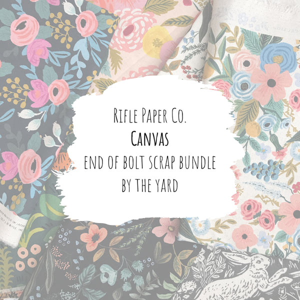 Rifle Paper Co. - Canvas End of Bolt Scrap Bundle (By the Yard)