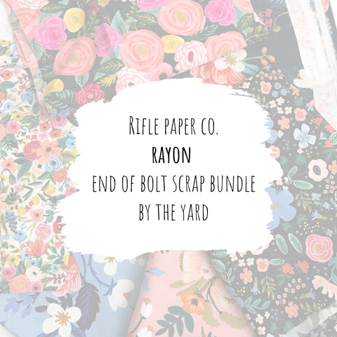 Rifle Paper Co. - Rayon End of Bolt Scrap Bundle (By the Yard)