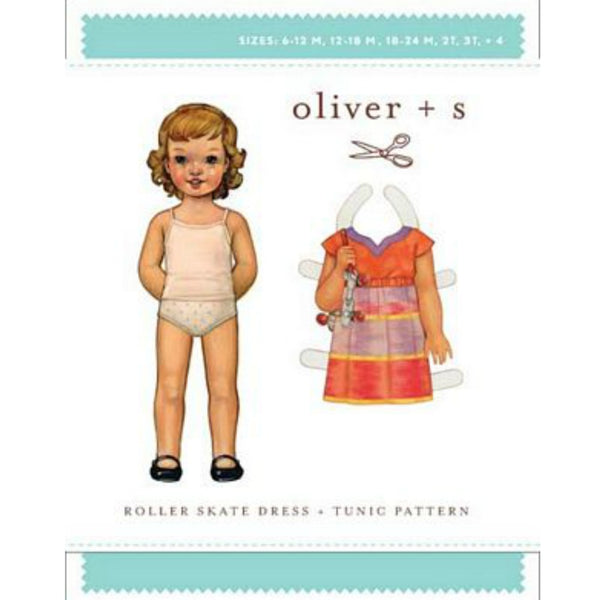 Oliver + S Roller Skate Dress Pattern - Baby / Toddler sizes 6m-4T (paper)
