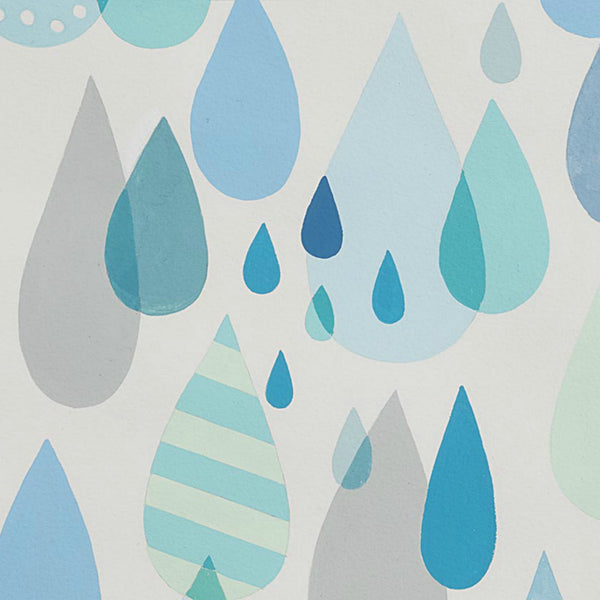 Raindrops in Blue Tonal