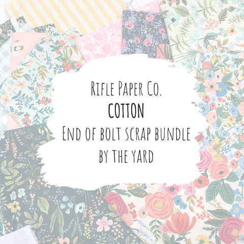 Rifle Paper Co. - Cotton End of Bolt Scrap Bundle (By the Yard)