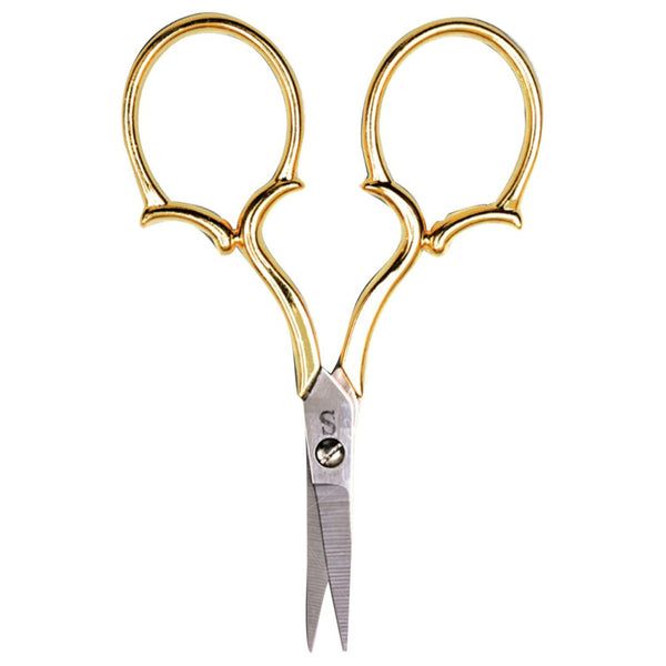 "Sullivan's Heirloom Embroidery Scissors - 4"" Gold Leaf Handle"