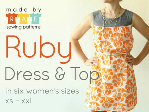 Made by Rae Ruby women's Dress / Top Pattern (paper)