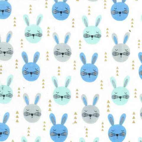 Ruminating Rabbits in Aqua Metallic