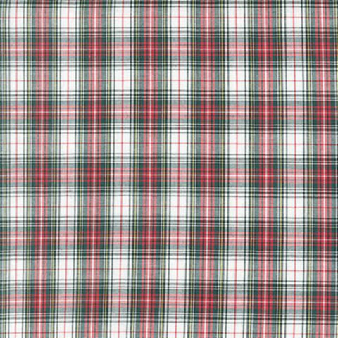 Classic Plaid in Red / White