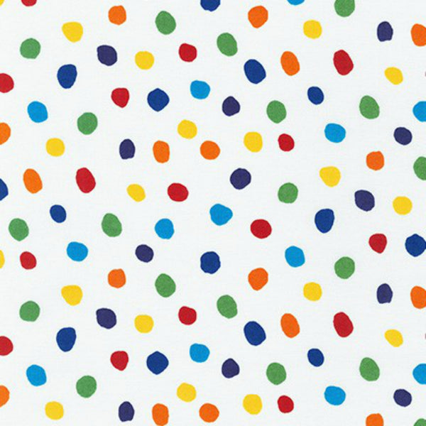 Dots in White / Rainbow