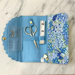 Liberty of London Sewing Roll in Orchard Light Blue