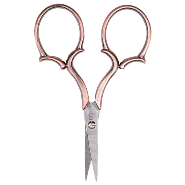 "Sullivan's Heirloom Embroidery Scissors - 4"" Copper Leaf Handle"