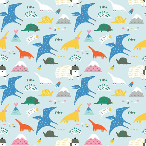 Dinosaurs in Blue