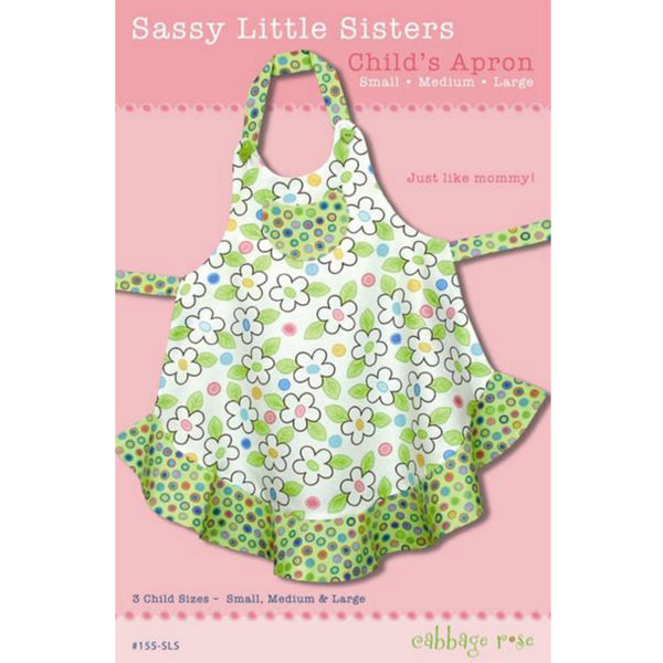 Cabbage Rose Sassy Little Sisters Child's Apron Pattern (paper)