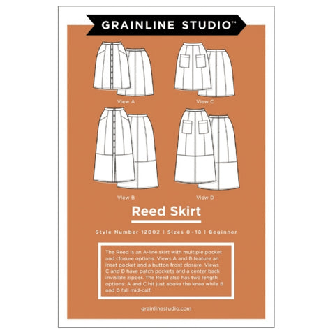 Grainline Studio Reed Skirt Pattern Sizes 0-18 (printed paper)