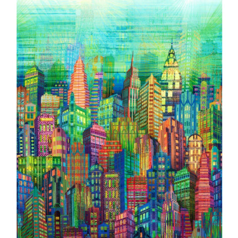 Skylines in Multi (digital spectrum print)