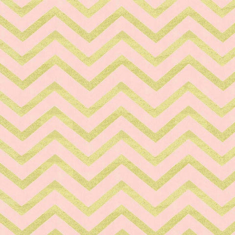 Sleek Chevron Pearlized in Blush