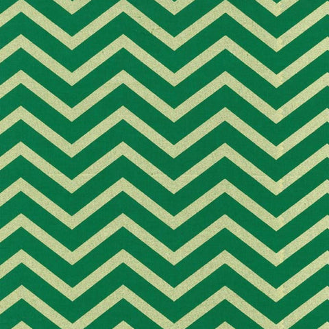 Sleek Chevron Pearlized in Spearmint / Gold