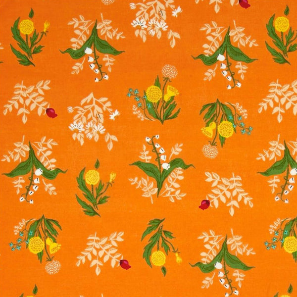 Sleeping Bouquet COTTON LAWN in Orange