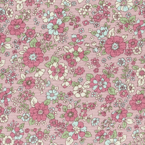 Small Floral COTTON LAWN in Pink