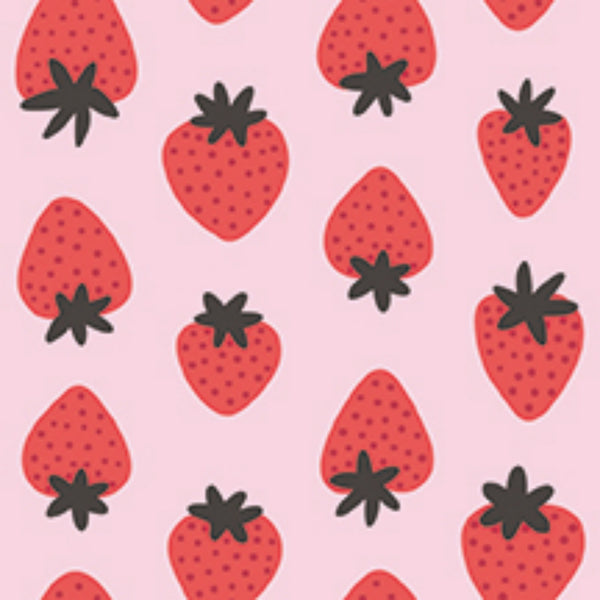 Strawberries in Light Pink / Red