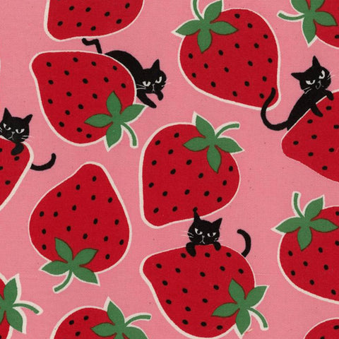 Strawberry Cat in Pink