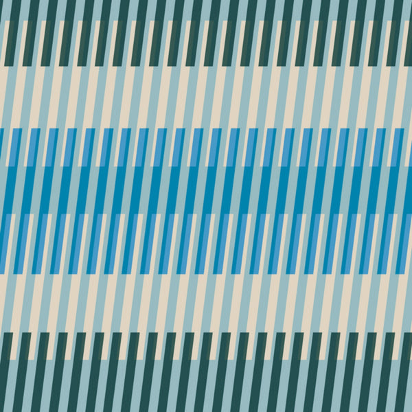 Fruity Stripes in Bright Blue