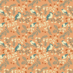 Birds and Branches in Coral Organic