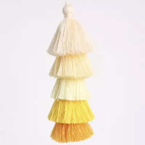 "Ombre Yellow Tassel 6"" Long"
