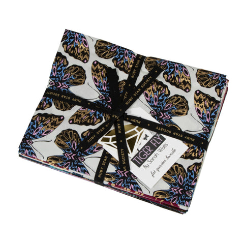 Tiger Fly Collection - 18 piece Fat Quarter + Panel Bundle