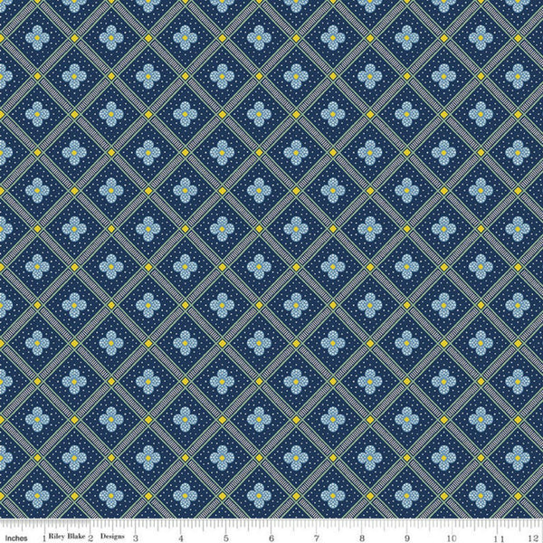 Manor Tile in Navy