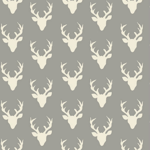 Tiny Buck Forest in Mist - Last Fat Quarter