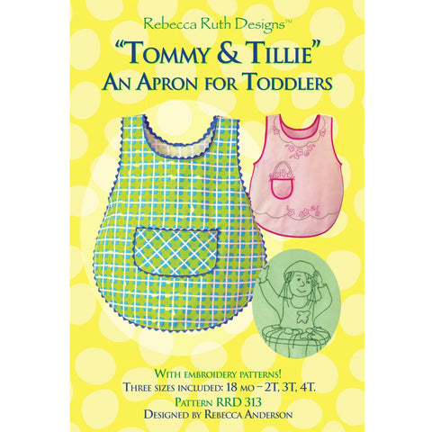 Tommy & Tillie Toddler Apron Pattern (paper)
