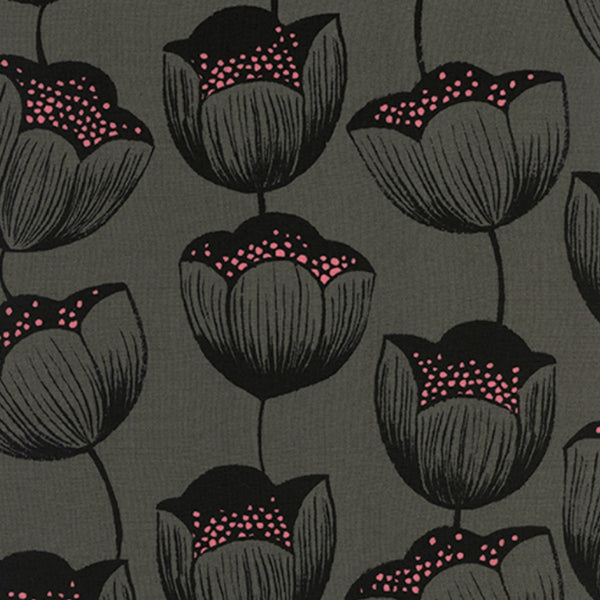 Tulips RAYON in Gray