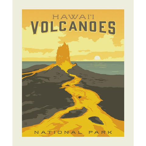National Parks Hawaii Volcanoes Poster PANEL in Lava