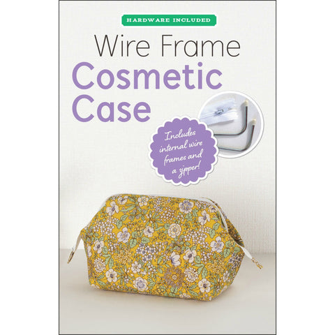 Wire Frame Cosmetic Case Kit (Pattern + Hardware & Zipper)