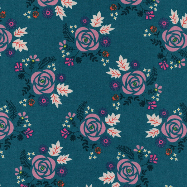 Wildflower in Teal