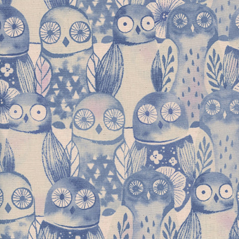 Wise Owls in Lilac