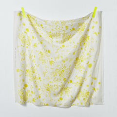 Jardin II DOUBLE GAUZE in White / Yellow