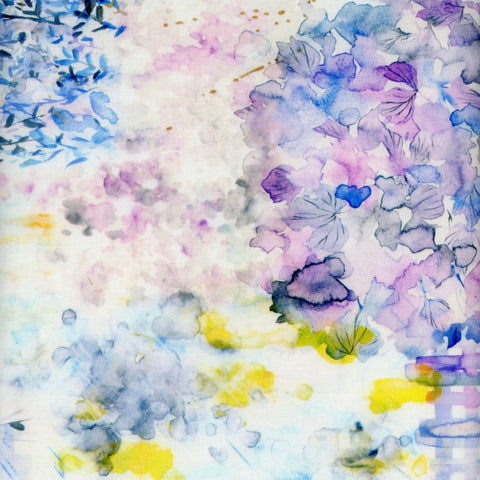 Abstract Watercolor Floral in Multi