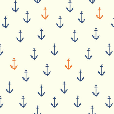 Anchors Aweigh in Cream Organic
