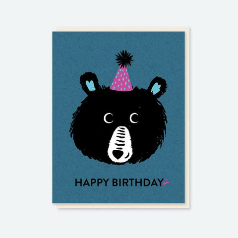 "Crafted Moon ""Happy Birthday"" Teddy Bear Card"