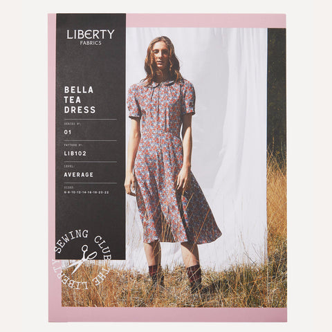 Liberty of London - Bella Tea Dress Sewing Pattern Extended Sizing UK 14-22 (Paper)