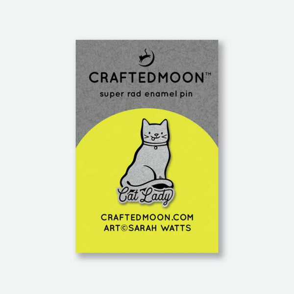 Crafted Moon - Cat Lady Enamel Pin