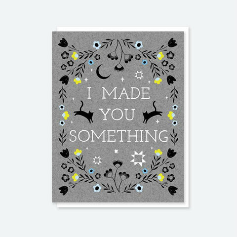 "Crafted Moon ""I Made You Something"" Double Cat Card"