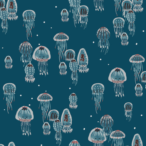 Drifting Jellies in Ocean Pearlescent