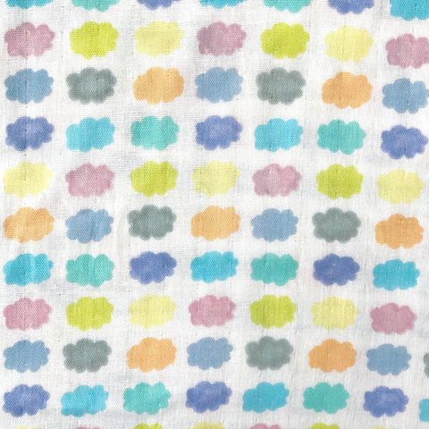 Candy Clouds DOUBLE GAUZE in Pastel